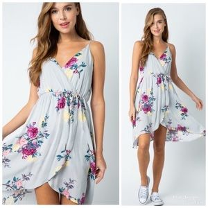 KFab Designs Dresses - 🌺 Floral Tulip Hem Dress